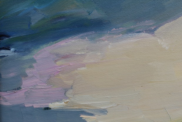 (CreativeWork) Approaching Storm 2 (Bay of Fires, Tasmania) by Glenn Miller. Oil Paint. Shop online at Bluethumb.