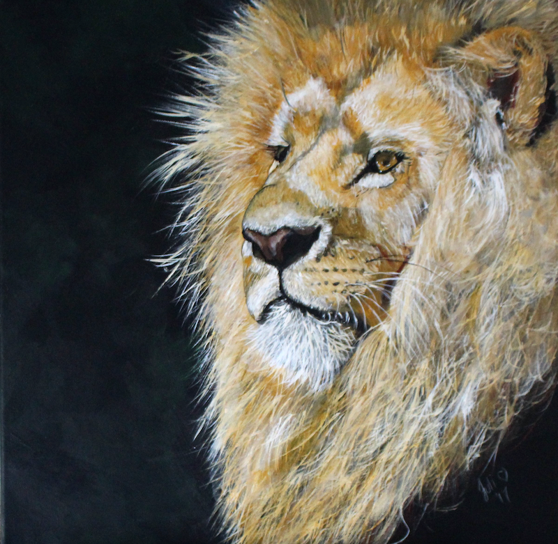 (CreativeWork) Nobility by Julie Hollis. acrylic-painting. Shop online at Bluethumb.