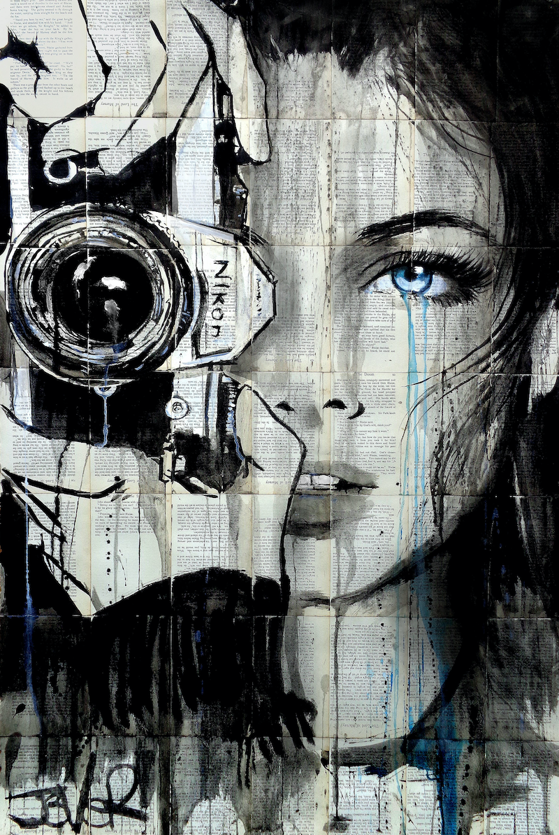 (CreativeWork) SHOOTIN by loui jover. mixed-media. Shop online at Bluethumb.
