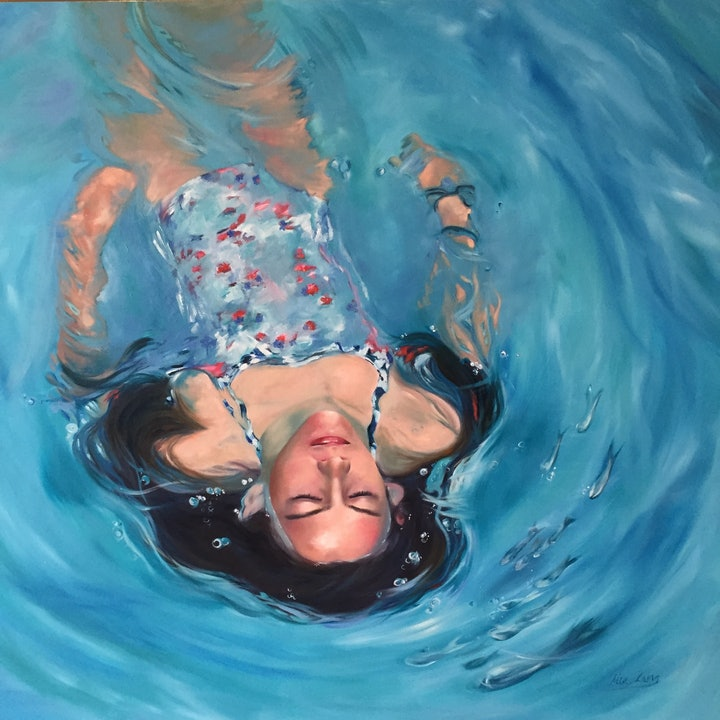 (CreativeWork) Breathing Space by Mia Laing. oil-painting. Shop online at Bluethumb.