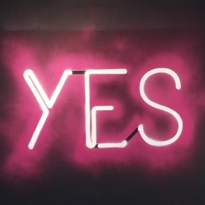 (CreativeWork) YES by Adam Todd. arcylic-painting. Shop online at Bluethumb.
