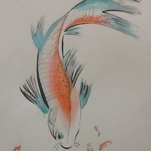 (CreativeWork) 24ct KOI FISH by June Orr. #<Filter:0x0000563b6a591838>. Shop online at Bluethumb.