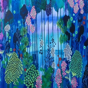 (CreativeWork) Beyond by Leah Doeland. arcylic-painting. Shop online at Bluethumb.