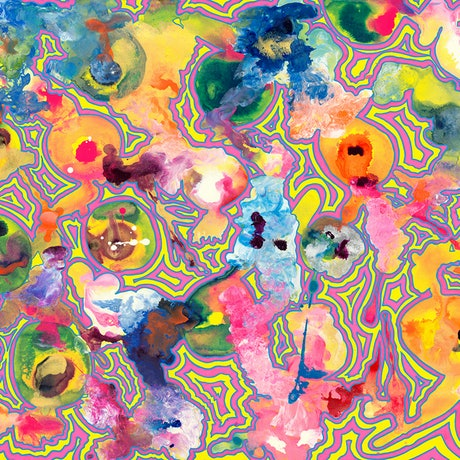 (CreativeWork) Mind Map 'Sugar Rush' by BAY Contemporary Artist. Acrylic Paint. Shop online at Bluethumb.