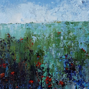 (CreativeWork) Variation by Helen Miles. arcylic-painting. Shop online at Bluethumb.