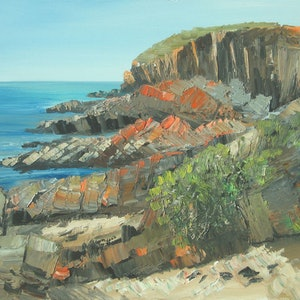 (CreativeWork) King George Beach, KI by Roland Weight. oil-painting. Shop online at Bluethumb.