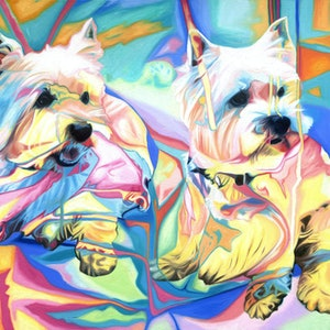 (CreativeWork) 2. Millie & Cassie (Small Limited Edition Print) by Shan Richards. print. Shop online at Bluethumb.