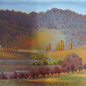(CreativeWork) My Country #397 by Max Butler. oil-painting. Shop online at Bluethumb.