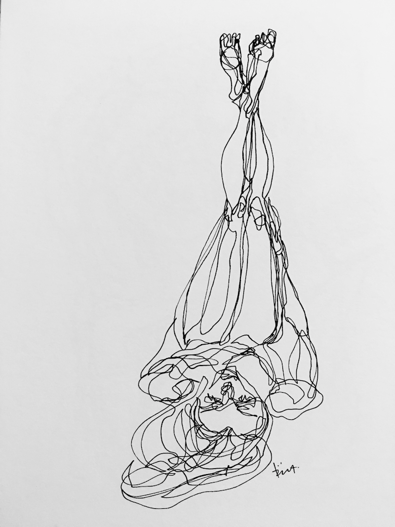 (CreativeWork) Don't Let Go - Relaxing by Irma Calabrese. drawing. Shop online at Bluethumb.