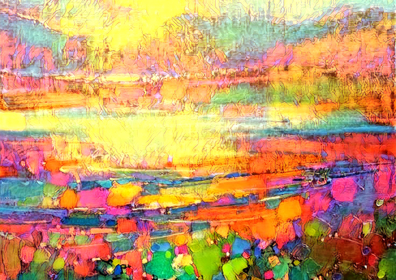(CreativeWork) Vibrant Melbourne Sunset  - Abstract - Limited Edition Ed. 1 of 50 by Nicole Marie. print. Shop online at Bluethumb.