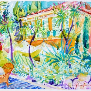 (CreativeWork) On the Cote d' Azur by Pamela Fairburn. other-media. Shop online at Bluethumb.