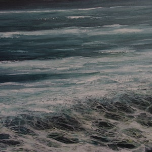 (CreativeWork) Washed ashore by GEOFF WINCKLE. oil-painting. Shop online at Bluethumb.