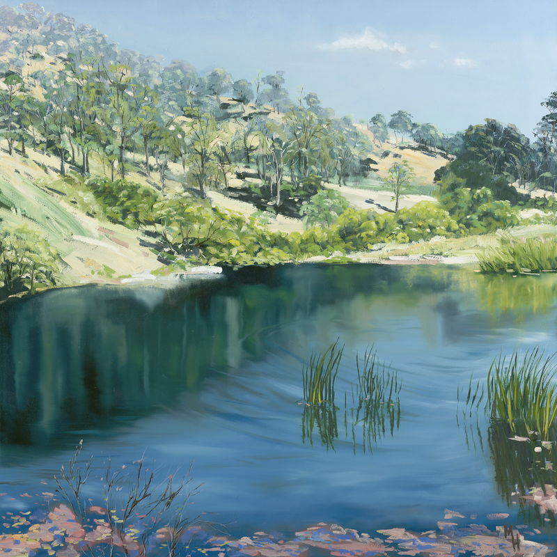 (CreativeWork) Upper reach of the Brisbane River. by Meredith Howse. other-media. Shop online at Bluethumb.