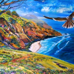 (CreativeWork) Colour-in the day by Sue Dingle. Acrylic Paint. Shop online at Bluethumb.