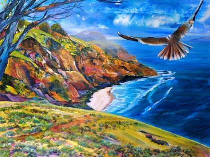 (CreativeWork) Colour-in the day by Sue Dingle. arcylic-painting. Shop online at Bluethumb.