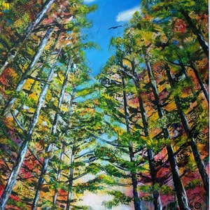 (CreativeWork) Look Up by Sue Dingle. arcylic-painting. Shop online at Bluethumb.