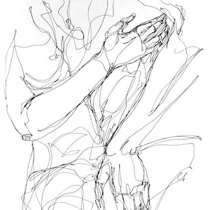 (CreativeWork) Don't Let Go - Power of Touch by Irma Calabrese. drawing. Shop online at Bluethumb.