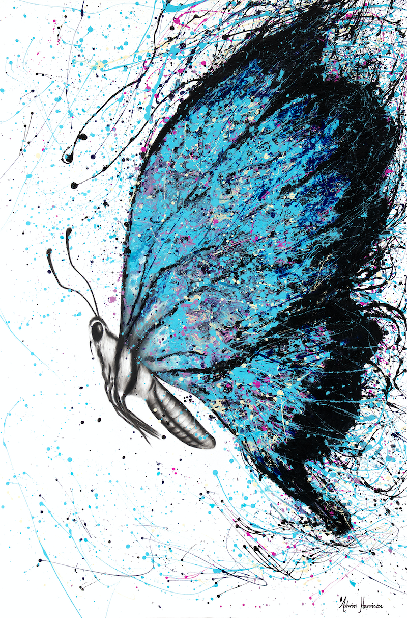 (CreativeWork) Sunny River Wings by Ashvin Harrison. arcylic-painting. Shop online at Bluethumb.