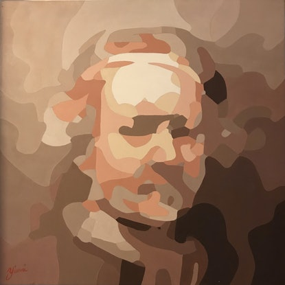 (CreativeWork) Rembrandt on iPhone camera. by Yianni Johns. Oil. Shop online at Bluethumb.