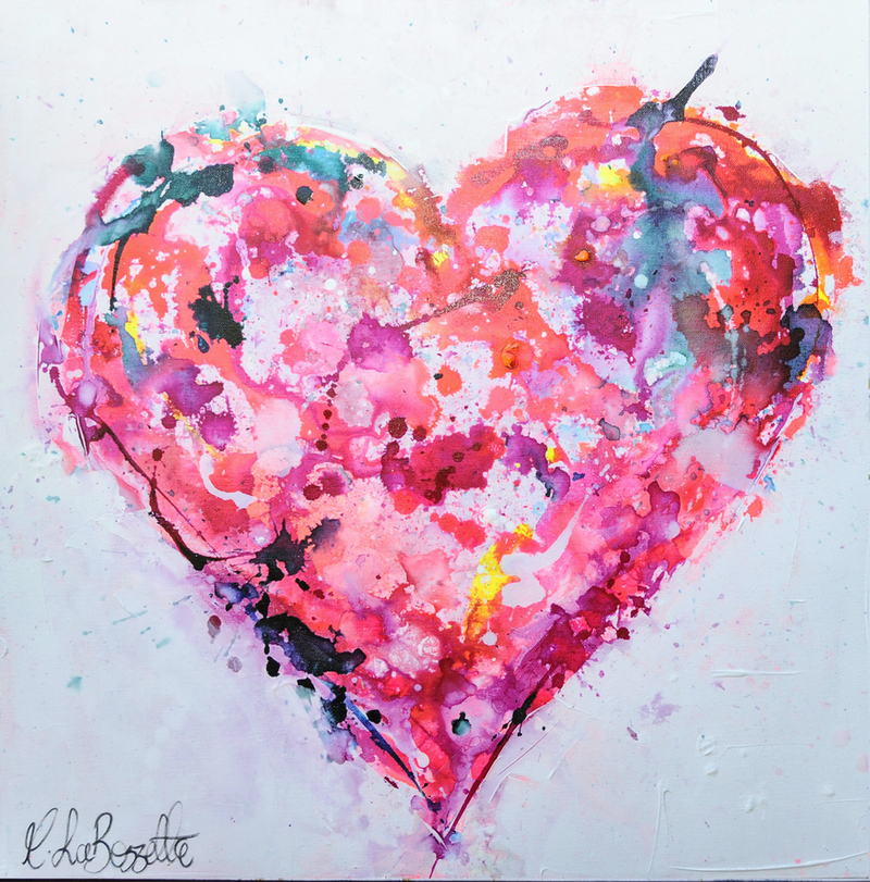 (CreativeWork) Heart and Soul by Melissa La Bozzetta. mixed-media. Shop online at Bluethumb.