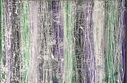 (CreativeWork) Spring Streaks by PHIL HODGSON. arcylic-painting. Shop online at Bluethumb.