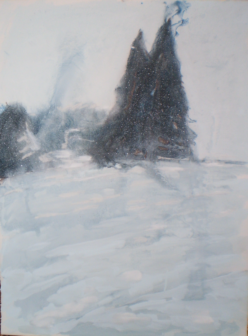 (CreativeWork) Snow Study #2 by Josh Honeyman. arcylic-painting. Shop online at Bluethumb.
