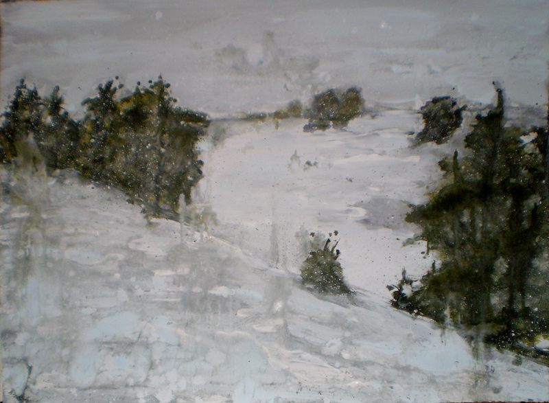 (CreativeWork) Snow Study #5 by Josh Honeyman. arcylic-painting. Shop online at Bluethumb.