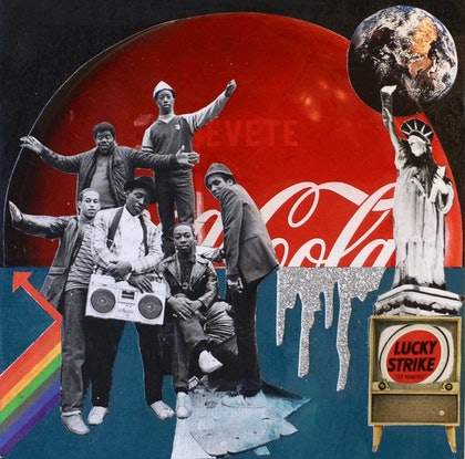 (CreativeWork) The Revolution Will Not Be Televised  by Kelly Sullivan. mixed-media. Shop online at Bluethumb.