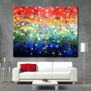 (CreativeWork) Lakeside by Estelle Asmodelle. arcylic-painting. Shop online at Bluethumb.