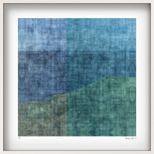 (CreativeWork) 'PENINSULA' Limited Edition Giclee Print on paper in 52.5cm white shadow box frame. Ed. 8 of 25 by George Hall. print. Shop online at Bluethumb.