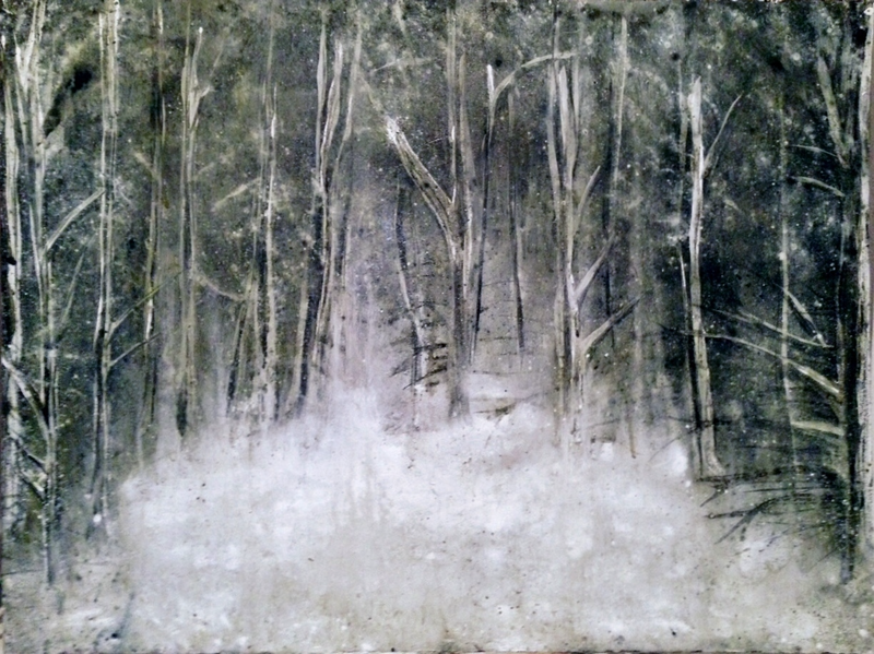 (CreativeWork) Snow Study #29 by Josh Honeyman. arcylic-painting. Shop online at Bluethumb.