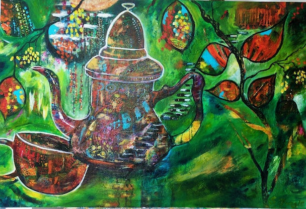 (CreativeWork) Journey - Travellers Rest by Sue Dingle. Acrylic Paint. Shop online at Bluethumb.