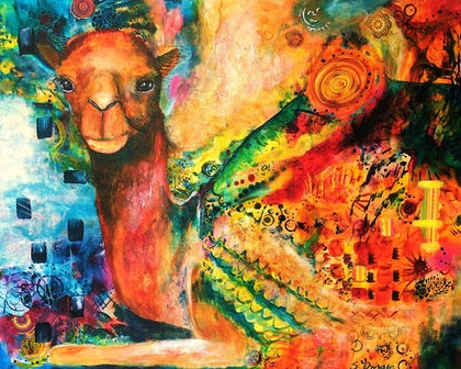 (CreativeWork) Journey - Mystic by Sue Dingle. arcylic-painting. Shop online at Bluethumb.
