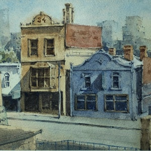(CreativeWork) Opposite Richmond Station by Natthapol Chaiyatam. watercolour. Shop online at Bluethumb.
