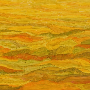 (CreativeWork) Undulating landscape  829 by Ernie Gerzabek. acrylic-painting. Shop online at Bluethumb.