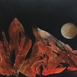 (CreativeWork) Next Moon by Jean Cameron. arcylic-painting. Shop online at Bluethumb.