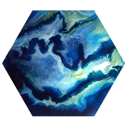 (CreativeWork) Mystical Hex by Gabby Kan. resin. Shop online at Bluethumb.