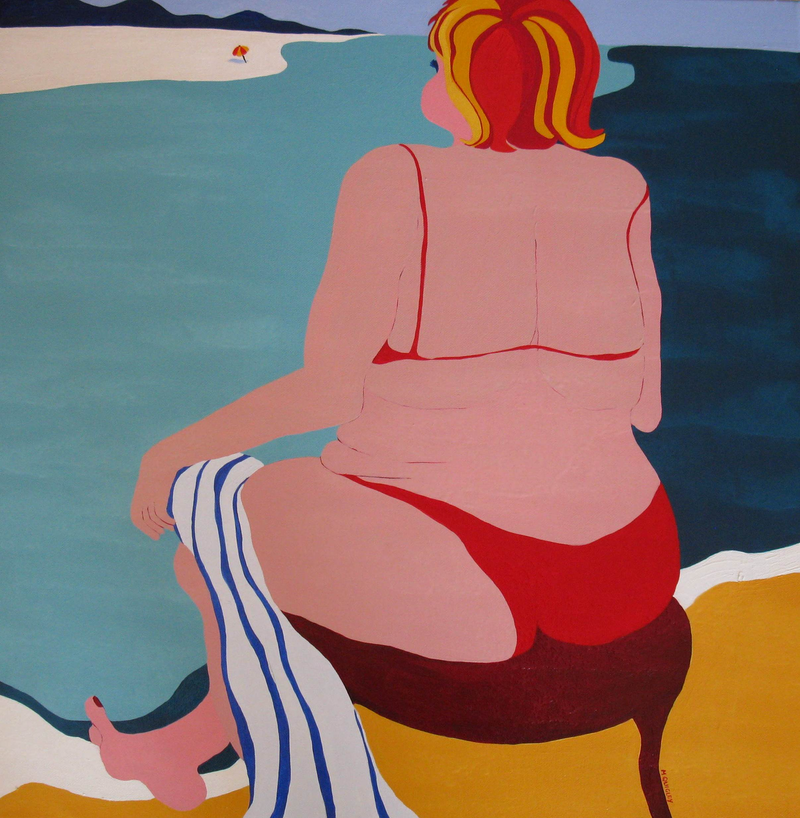 (CreativeWork) Beached by Marian Quigley. arcylic-painting. Shop online at Bluethumb.