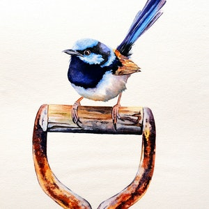 (CreativeWork) Digging For Grubs by Luna Vermeulen. watercolour. Shop online at Bluethumb.
