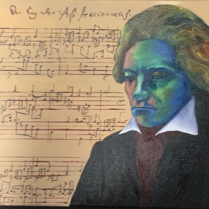 "(CreativeWork) Beethoven's ""Fantasy and Fugue"" in abstract and oil by Bruce ""Notty"" Notman. oil-painting. Shop online at Bluethumb."