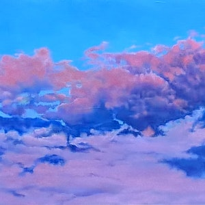 (CreativeWork) Adelaide Sky by Jacqueline Briner. oil-painting. Shop online at Bluethumb.