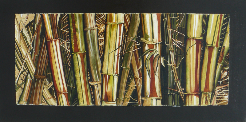 (CreativeWork) BAMBOO WINDOW ORIGINAL by Sue PHELOUNG. mixed-media. Shop online at Bluethumb.
