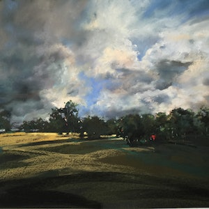 (CreativeWork) Under an Evening Sky by Gerry Jensen. other-media. Shop online at Bluethumb.