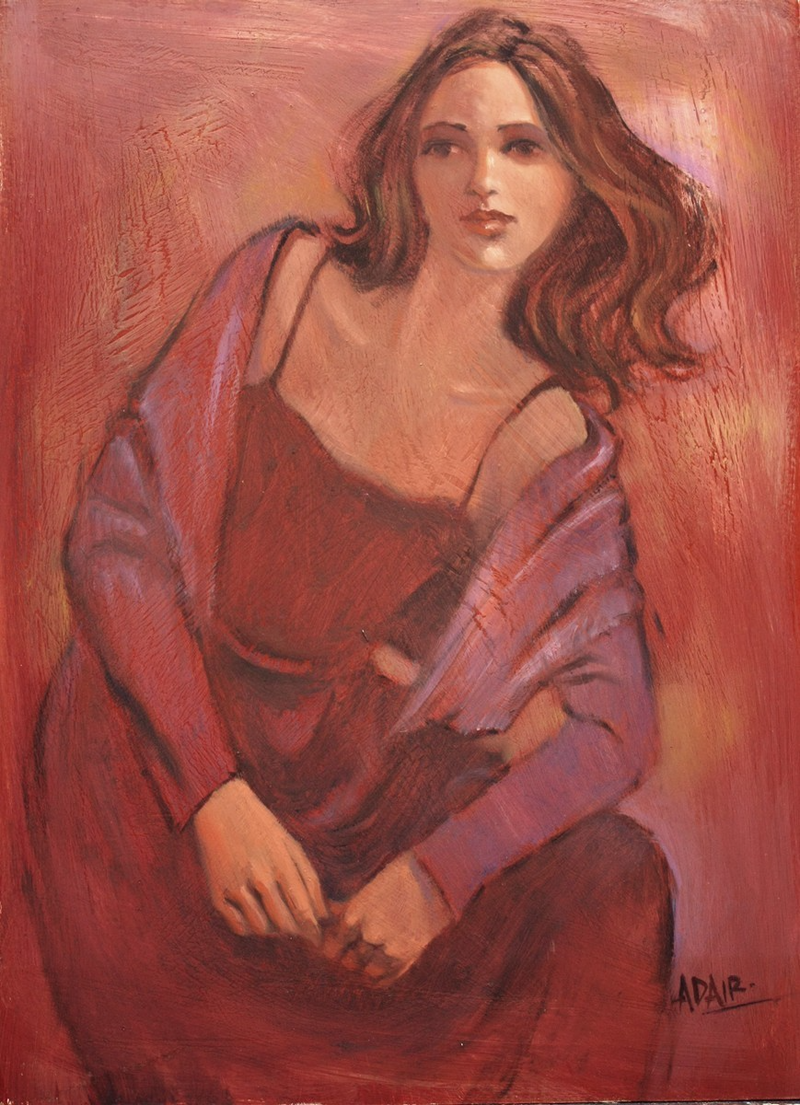 "(CreativeWork) ""Cardy Girl"" by Pauline Adair. mixed-media. Shop online at Bluethumb."