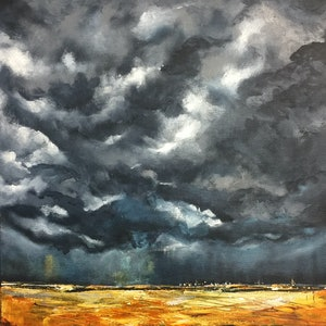 (CreativeWork) Bruised and Golden  by Jodi Bowen. acrylic-painting. Shop online at Bluethumb.