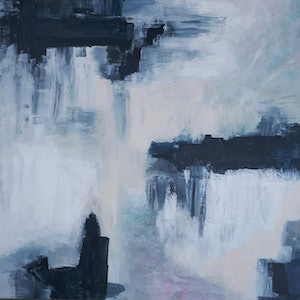 (CreativeWork) 'OMBRE' by Simone Melville. arcylic-painting. Shop online at Bluethumb.