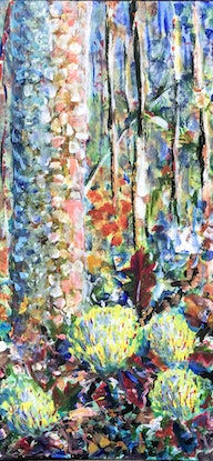 (CreativeWork) Bush by Geoff Hargraves. Acrylic Paint. Shop online at Bluethumb.