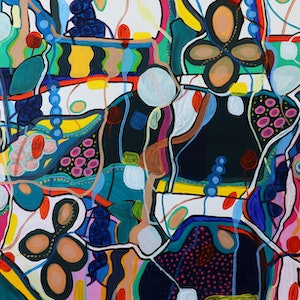 (CreativeWork) Lives of Colour by Dianne Alchin. arcylic-painting. Shop online at Bluethumb.