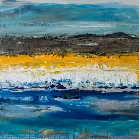 (CreativeWork) By The Seaside by Dianne Alchin. Acrylic Paint. Shop online at Bluethumb.
