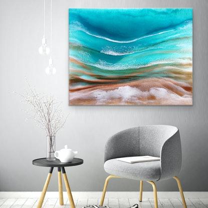 (CreativeWork) Surfing The Dream by Martine Vanderspuy. Resin. Shop online at Bluethumb.
